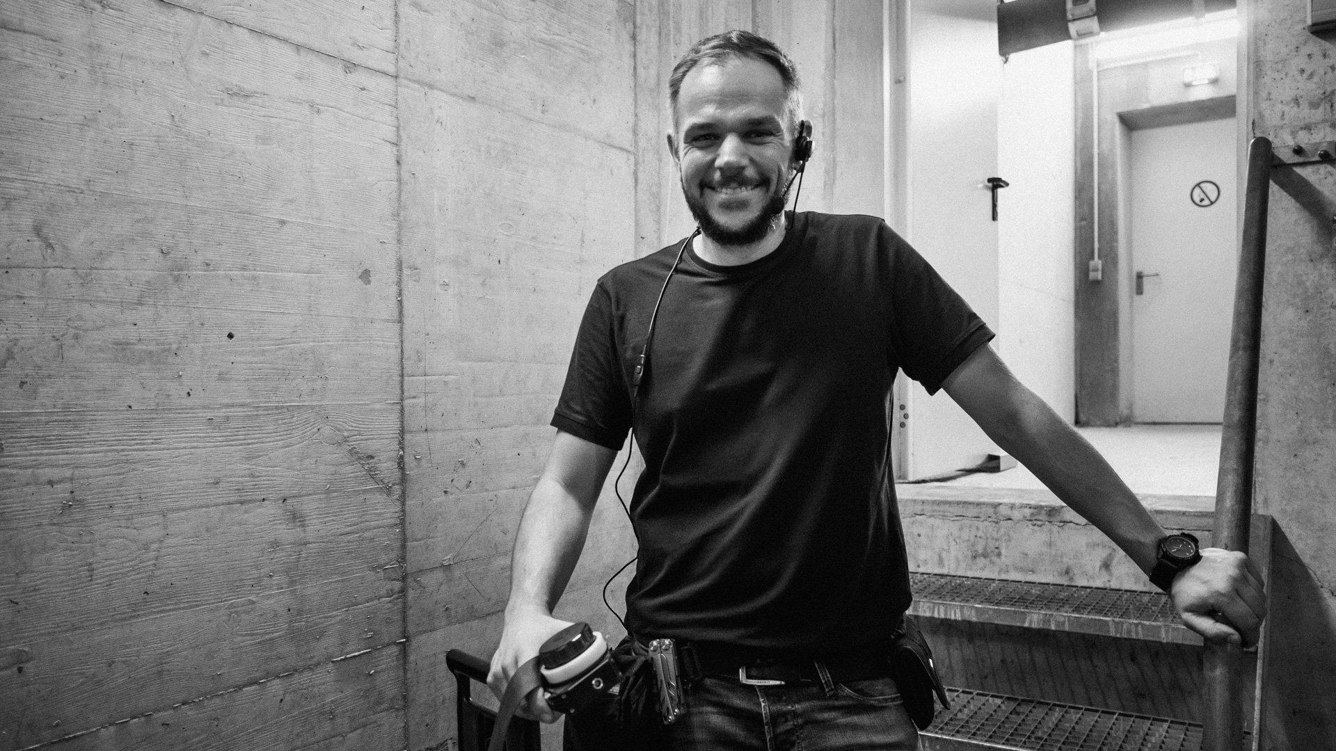 Jan Voth bei einder Videoproduktion