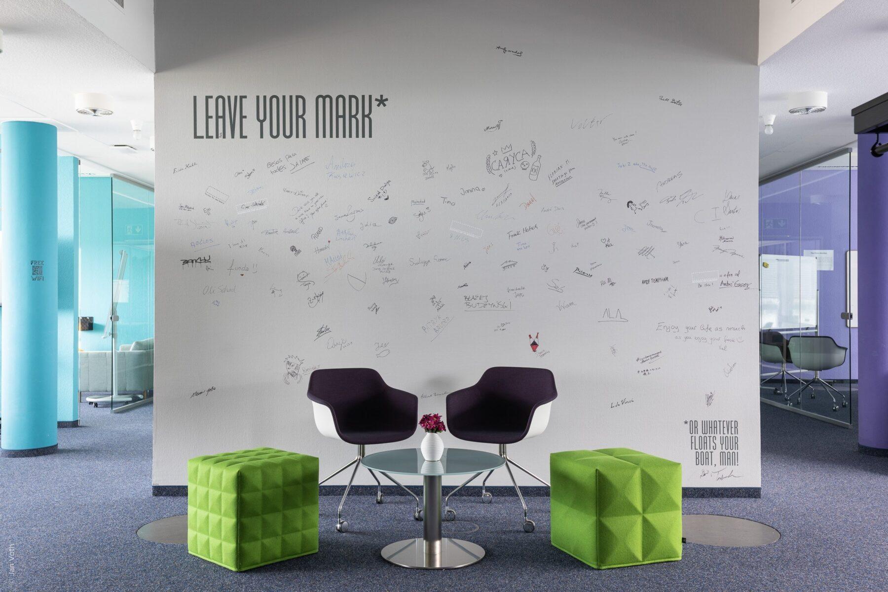 Innenaufnahme eines modernen Büros in Berlin